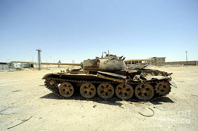A T-55 Tank Destroyed By Nato Forces Art Print