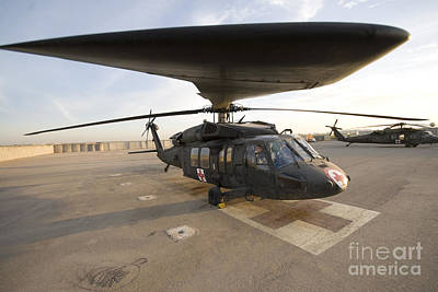 A Uh-60 Blackhawk Medivac Helicopter Art Print by Terry Moore