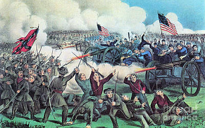 Army Of The Potomac Photograph - American Civil War, Battle by Photo Researchers