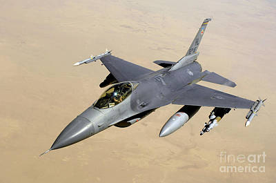 Aim High Photograph - An F-16 Fighting Falcon In Flight by Stocktrek Images