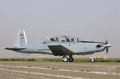 Trainer Aircraft Photograph - An Iraqi Air Force T-6 Texan Trainer by Terry Moore