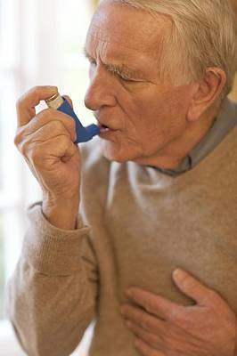 Healthcare And Medicine Photograph - Asthma Inhaler Use by