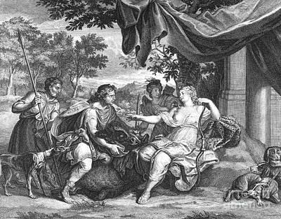 Huntress Photograph - Atalanta And Meleager by Granger