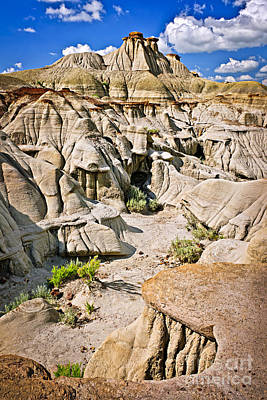 Sites Photograph - Badlands In Alberta by Elena Elisseeva