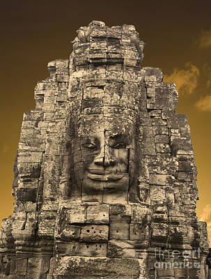 Outerspace Patenets - Bayon temple by MotHaiBaPhoto Prints