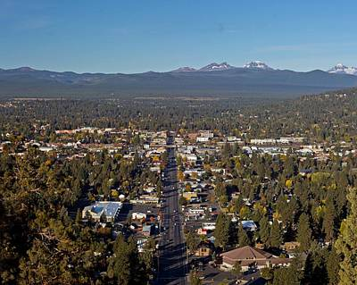 Sisters Photograph - Bend Oregon From Pilot Butte by Twenty Two North Photography