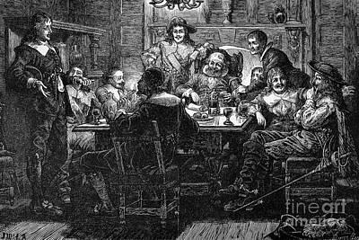 Table Wine Photograph - Benjamin Jonson (1573-1637) by Granger