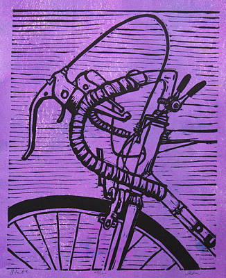 Art Print featuring the drawing Bike 2 by William Cauthern