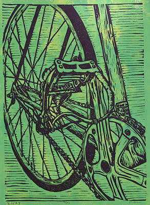 Art Print featuring the drawing Bike 3 by William Cauthern