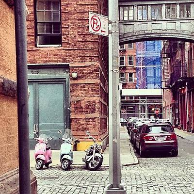 Manhattan Wall Art - Photograph - 3 Bikes 1 Car by Randy Lemoine
