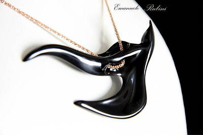 Ciondolo Jewelry - Black Swallow  by Emanuele Rubini