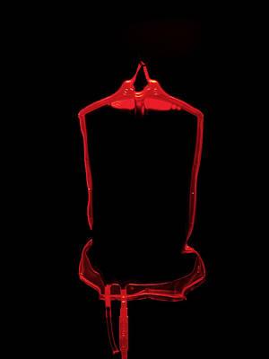 Blood Bag Art Print by Tek Image