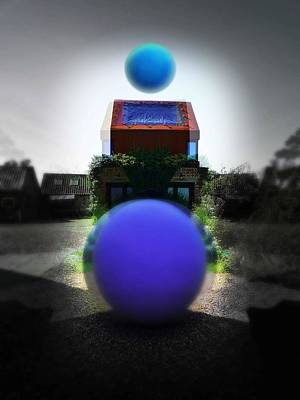 Surreal Photograph - Blue Moon by Charles Stuart