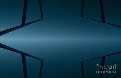 Sweating Digital Art - Blue Reflection by Odon Czintos