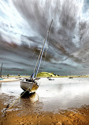 Boat Art Print by Gouzel -