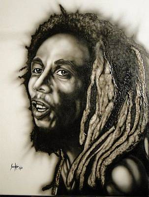 Painting - Bob Marley  by Stephen Sookoo