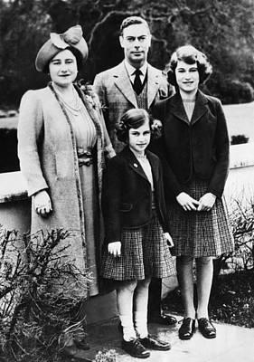 British Royal Family. From Left British Art Print