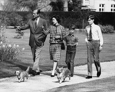 Elizabeth Edwards Photograph - British Royal Family. From Left Prince by Everett