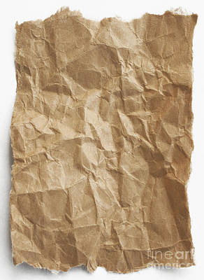 Paper Bags Photograph - Brown Paper by Blink Images