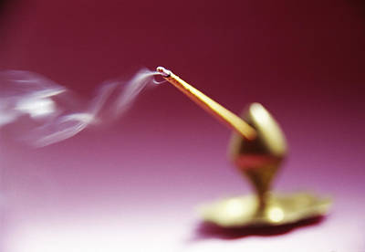 Incense Stick Holders Photograph - Burning Incense by Cristina Pedrazzini
