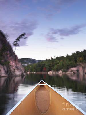 Canoeing In Ontario Provincial Park Art Print by Oleksiy Maksymenko