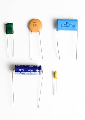 Ceramic Disk Photograph - Capacitors by Photo Researchers, Inc.