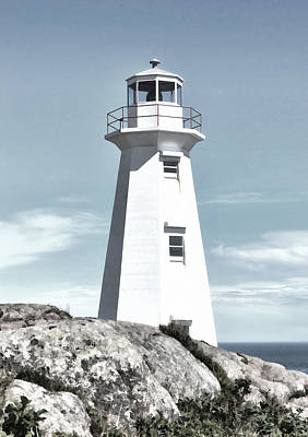 Digital Art - Cape Spear Lighthouse by Steve Hurt