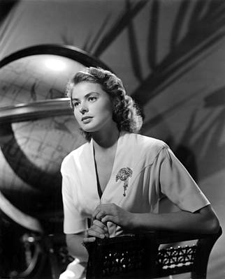 1942 Movies Photograph - Casablanca, Ingrid Bergman, 1942 by Everett