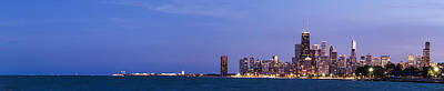 Sky Line Photograph - Chicago Skyline At Dusk by Twenty Two North Photography