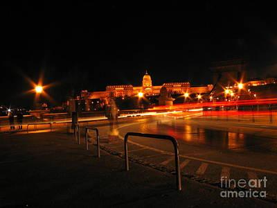 City By Night Art Print by Odon Czintos