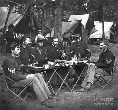 Mess Photograph - Civil War Soldiers by Granger