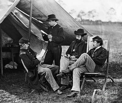 Civil War: Union Officers Print by Granger