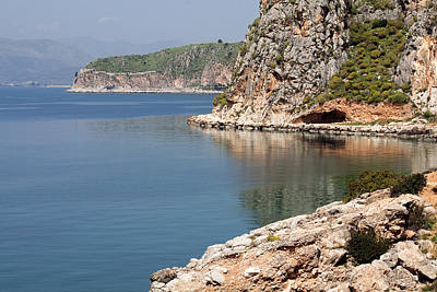 Photograph - Coastline Of Greece by Shirley Mitchell
