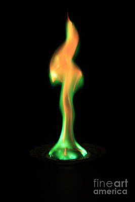 Copperii Chloride Flame Test Art Print by Ted Kinsman