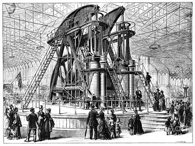 Corliss Steam Engine, 1876 Art Print by Granger