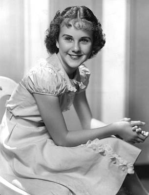 Puffed Sleeves Photograph - Deanna Durbin, 1936 by Everett