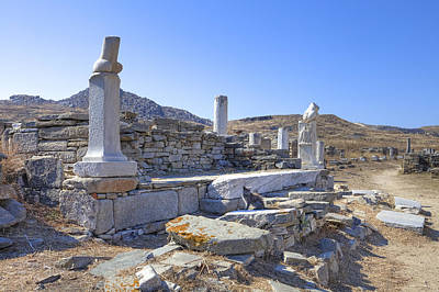 Excavation Photograph - Delos by Joana Kruse