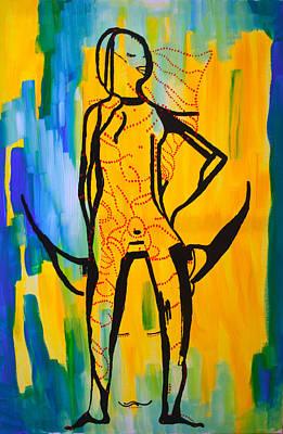 Dinka Bride - South Sudan Art Print by Gloria Ssali