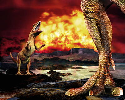 Wildlife Disasters Photograph - Dinosaur Extinction by Victor Habbick Visions