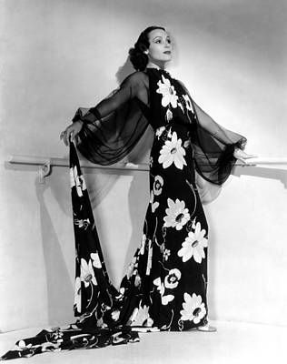 Puffed Sleeves Photograph - Dolores Del Rio, 1935 by Everett