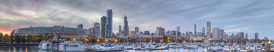 Soldier Field Wall Art - Photograph - Downtown Chicago From Burnham Harbor by Twenty Two North Photography
