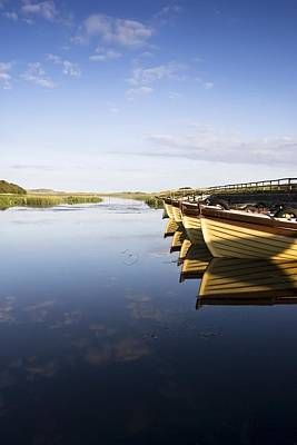 Boats In Reflecting Water Photograph - Dunfanaghy, County Donegal, Ireland by Peter McCabe
