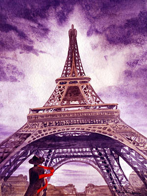 Eiffel Tower Paris Art Print by Irina Sztukowski
