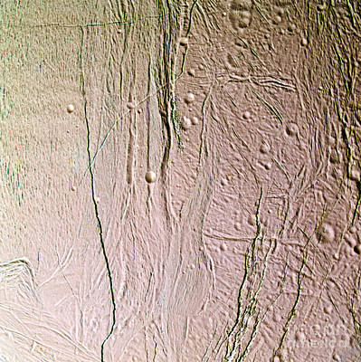 Photograph - Enceladus Surface by NASA Science Source