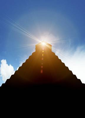 Pyramid Of The Sun Photograph - End Of The World In 2012 Conceptual Image by Victor Habbick Visions