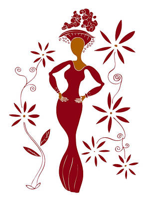Flourishes Drawing - Fashion Illustration by Frank Tschakert