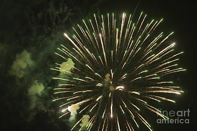 Fireworks Art Print by Juan  Silva
