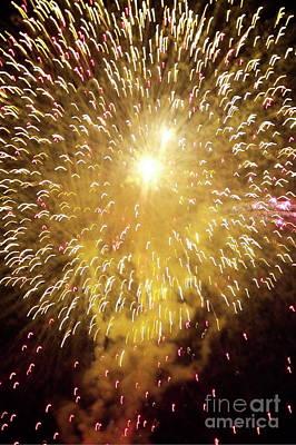 Bastille Day Celebration Photograph - Fireworks Light by Sami Sarkis