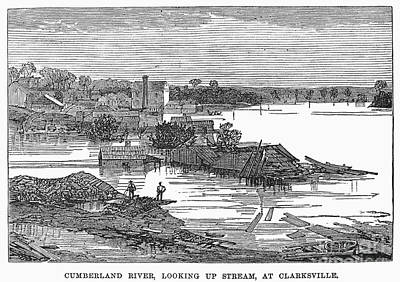 Clarksville Photograph - Flood: Clarksville, 1874 by Granger