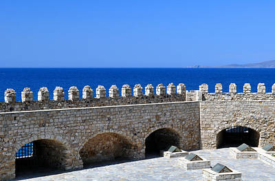 Lion Of St Mark Photograph - Fortification. Venetian Castle Koules In Crete. Greece. by Fernando Barozza